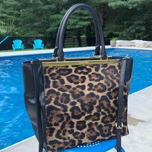 Michael Kors Leather & Leopard Calf Hair Tote